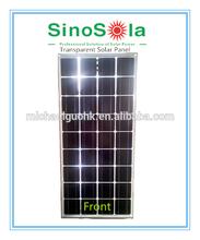 Transparent mono solar panel 200w high performance low cost type