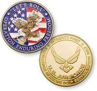 American metal souvenir double eagle gold coin
