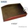 office supply desk organizers A4 document tray, PU office serving tray