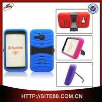 With kickstand high quality pc silicone combo case for alcatel one touch evolve 5020T