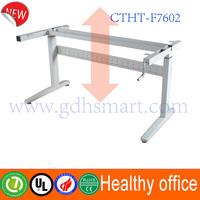 Healthy ergonomic sit stand desk frame & Obesity prevention & manual height adjustable desk frame