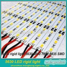 high efficacy 5630 rigid LED stripe,original Korean LG 5630 SMD LEDs, CRI>80, 24VDC, 60 LED/M,1800 lumen,21W, Alu PCB,factory