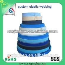 custom wholesale high elasticity colorful flat adjustable elastic band