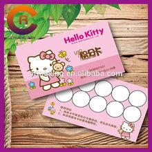 2014 Full printing free design customize paper printed name card