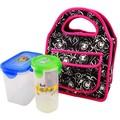 logo baskı neopren promosyon öğle çantası kutusu dış cep piknik gıda soğutucu çocuklar bebek taşınabilir meyve kese