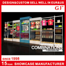 Customized Wholesale High grade wood and metal cloth display rack for retail store furniture