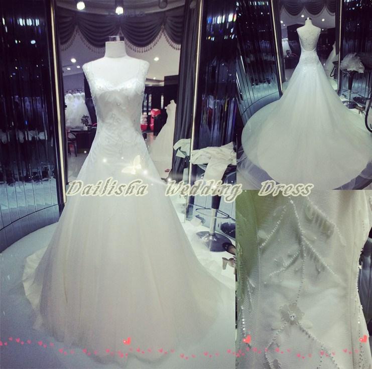 Nuovo arrivo! 2015 più formato zip bling strass perline fatti a mano squisita unta fiore di paillettes sexy abito da sposa senza schienale
