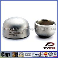 ASME B16.9 A234 WPB galvanized pipe end cap