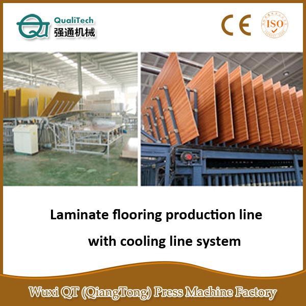 라미네이트 바닥 생산 기계/ 나무 바닥 만드는 기계-목재 패널 ...