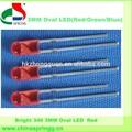 lista de precios para los componentes electrónicos 3mm oval led rgb