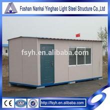 light steel temporey prefab container house kit
