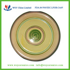 7.5 inch stoneware hand painted round rattan charger plates