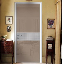 Oak Plank Door Aluminum Frame Interior Door