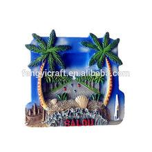 003 philippine souvenir items coconut and dolphin tourist fridge magnet