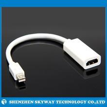 Mini DisplayPort to HDMI thunderbolt mini dp to hdmi adaptor ,Mini DP HDMI male to female convert adapter for MAC 3D TV