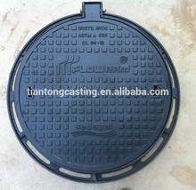 bituminous paints sand casting en 124 D400 Ductile iron manhole cover