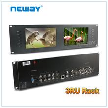 high quality 7 inch LCD dual rack HD SDI monitor