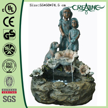 29 inch Boy&Girl Garden Bronze Fountain
