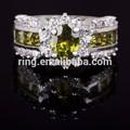 حجم 7, 8, 9, 10، رائعة الزبرجد والمجوهرات aaa 11 10kt الذهب مملوءة خاتم هدية الزفاف