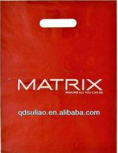 Red Printed LDPE Die Cut Plastic Bags/Plastic Packing Bag