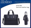 Navy blue color real leather breifcase for man Man bussiness bag