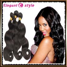virgin indian humain hair clean & neat no tanlge & no shed indian body wave , indian natural human hair