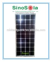 250W Transparent Mono Solar Panel Laminated WithTempered Glass&Transparent TPE
