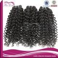 De calidad superior rizo natural del pelo virgen, 6a peruano virgen del pelo humano de extensión