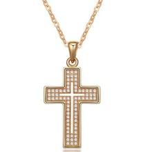 One Gram Gold Jewellery Titanium Necklace Making Jesus Cross Pendant