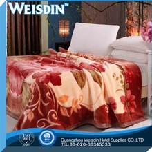 king size wholesale flannel plain purple coral fleece blanket