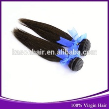 Qingdao Kason Hair 2014 New Products Milky Way Silky Straight Pure Human Hair Weft