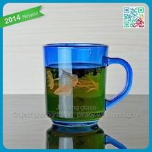 beauty color fancy tea drinking glass cup tea tumbler drinking glass tea cup