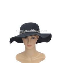 de imitación de la moda de fieltro de lana sombrero de copa sombrero barato con bownkot