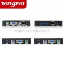China high quality high speed 300m rj45 kvm extender cat.5 lower price
