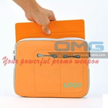 Custom Imprinted Promotional Neoprene Laptop Sleeve Case Pouch bag for iPad ,Tablet PC