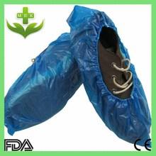 xiantao hubei MEK waterproof CPE PE blue disposable plastic shoe covers