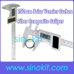 Solar Electronical Measuring Tool LCD Vernier Carbon Fiber Composite Digital Caliper