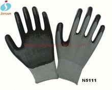 Hot! High quaility red 13g nitrile coated gloves