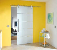 Frameless Opacity Glass Sliding Door with Handle