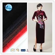 96% Polyester 4% Spandex Knitted Fabric Silk Velvet Fabric for Cheongsam,Sportswear,Garments Dress