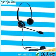 Double earpiece Telephone headset USB Lync Type QD-Y Training