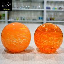 2015 Canton fair new design glass hanging christmas ball