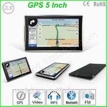 "HD screen 4.3"" TFT LCD car gps navigation free map"