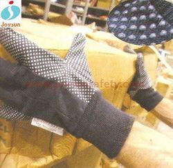 Good!Wholesale cotton dots colored nitrile gloves