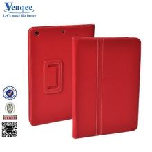Veaqee 2014 custom megnetic pu 360 degree rotating hard back leather case for ipad mini