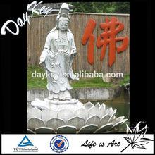 Marble Kuan Yin Statue On Lotus