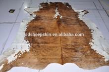 Fashionable Natural Cow Skin Carpet Brown Cow Print Rug
