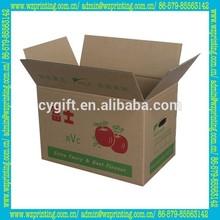 made in china custom wholesale corrugated apple carton box