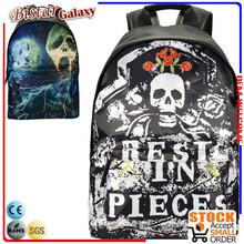 BBP204 Skull pattern Large Capacity rucksacks for school girl stylish vintage mochila black backpack