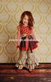 China importou roupa das crianças 2014 mais novas meninas crianças outono inverno knit conjuntos de algodão crianças boutique de roupas